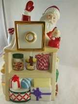 Lenox Musical Cookie Jar Santa with Toys Candy Camera Holiday Village 11... - $39.59