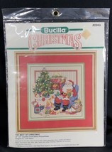 Bucilla The Best of Christmas Counted Cross Stitch KIT Picture Pillow Gi... - $14.84