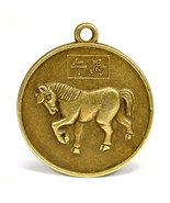 """YEAR of the HORSE GOOD LUCK CHARM 1"""" Chinese Zodiac Horoscope Feng Shui ... - $6.95"""