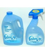 Febreze 67.6 oz Fabric Refresher Refill + 33.81 Fl Oz Sprayer Both New F... - $19.30
