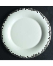"Arthur Court Grape-BLACK 9.5"" SALAD Plate Fine China Stoneware MADE IN U... - $114.65"