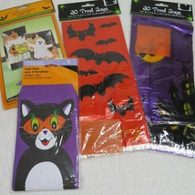 Lot of 4 Vintage Halloween Treat Bags and Stickers 84 Bags Total  - $24.70