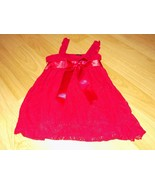 Girl's Size Medium 5-6 Guess Jeans Burgundy Red Lace Tunic Top Shirt EUC - $15.00