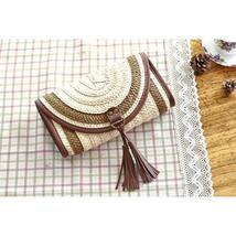 Vintage Straw Tassels Women Messenger Clutch Bags image 3