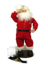 Chappell Jingle Bell Rock Dancing Musical Santa Animated Rock in Roll 50... - $49.49