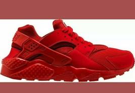 Nike Huarache Run University Red tripple red rate running 5.5 y womens size 7 - $100.91