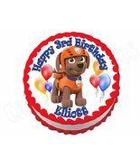 Paw Patrol Zuma Round Edible Cake Image Cake Topper - $8.98+