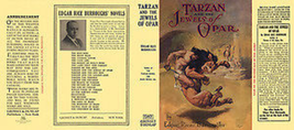 Edgar Rice Burroughs TARZAN AND THE JEWELS OF OPAR facsimile dust jacket... - $21.56