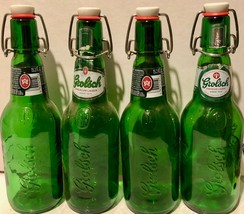 Grolsch Beer Lager 4 Green Bottles Glass Empty Resealable Swing Top Home Brew - $41.49