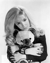 Barbara Fairchild Holding Teddy Bear 16x20 Canvas Giclee - $69.99