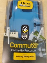 Otterbox Commuter Case For Samsung Galaxy Note 5 Blue Used - $9.49