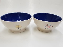BRAND NEW RAE DUNN 4TH OF JULY 2018 ARTISAN COLLECTION SET OF 2 BOWLS - $37.39