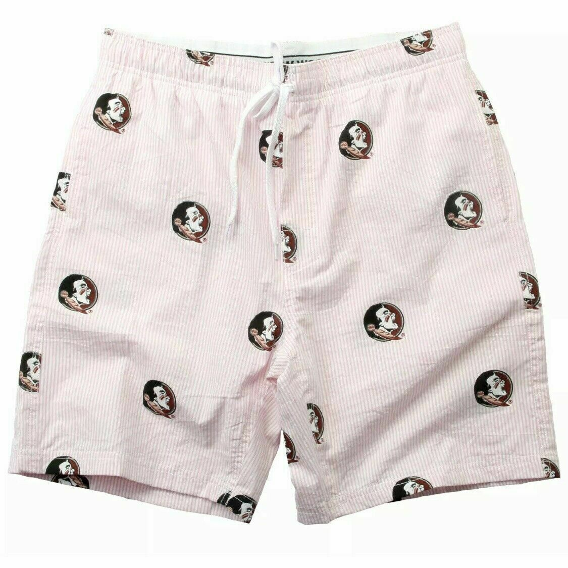 Primary image for FSU Florida State Seminoles Wes and Willy Mens NCAA Seersucker Beach Shorts L