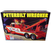 Skill 3 Model Kit Peterbilt Wrecker Tow Truck 1/25 Scale Model by AMT AM... - $51.99
