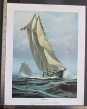 Vintage Thomas Hoyne Print Bluenose Boat Race Winner Nautical Art 11x14  - $14.92