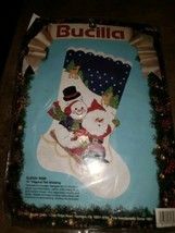 "New Old Stock Vintage Bucilla Christmas Felt 18"" Stocking ""Sleigh Ride"" - $18.66"