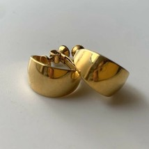 Napier Screwback Clip On Earrings Small Chunky Gold Tone Vintage Signed  - $12.82