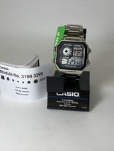 CASIO Illuminator World Time Watch 5 Alarms Water Resistant AE 1200WH 3299 - $39.95
