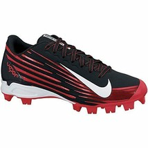 Men's Nike Vapor Strike 2 Baseball Cleat Black/University Red/White Size... - $22.41
