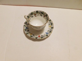 Aynsley B285 colored berries cup and saucer - $11.99