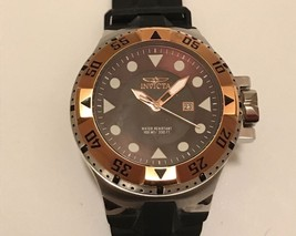 Men's Invicta Excursion Sport Model 14438 Brown Dial Black Silicone Watch 72 - $149.99
