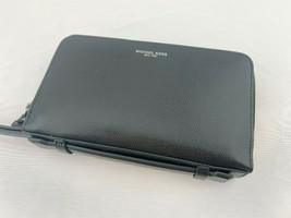 NWT Michael Kors Warren Money Bag Unisex Travel Men's Wallet Wristlet Black - $99.95