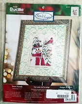 Bucilla Plaid Counted Cross Stitch Stitch Scapes Snow Friends 85137 stit... - $41.99