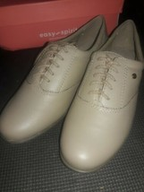 Easy Spirit Womens Motion  Wheat Color Lace Up  Oxfords Leather size 7.5 Med - $26.85 CAD