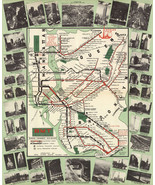 "23""x28"" New York Subway Map 1939 BMT Rapid Transit Elevated Lines Wall Poster - $26.24"