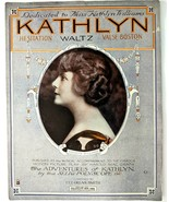 Kathlyn Williams Valse Waltz Large Sheet Music Lee Orean Smith Vintage 1914 - $12.59