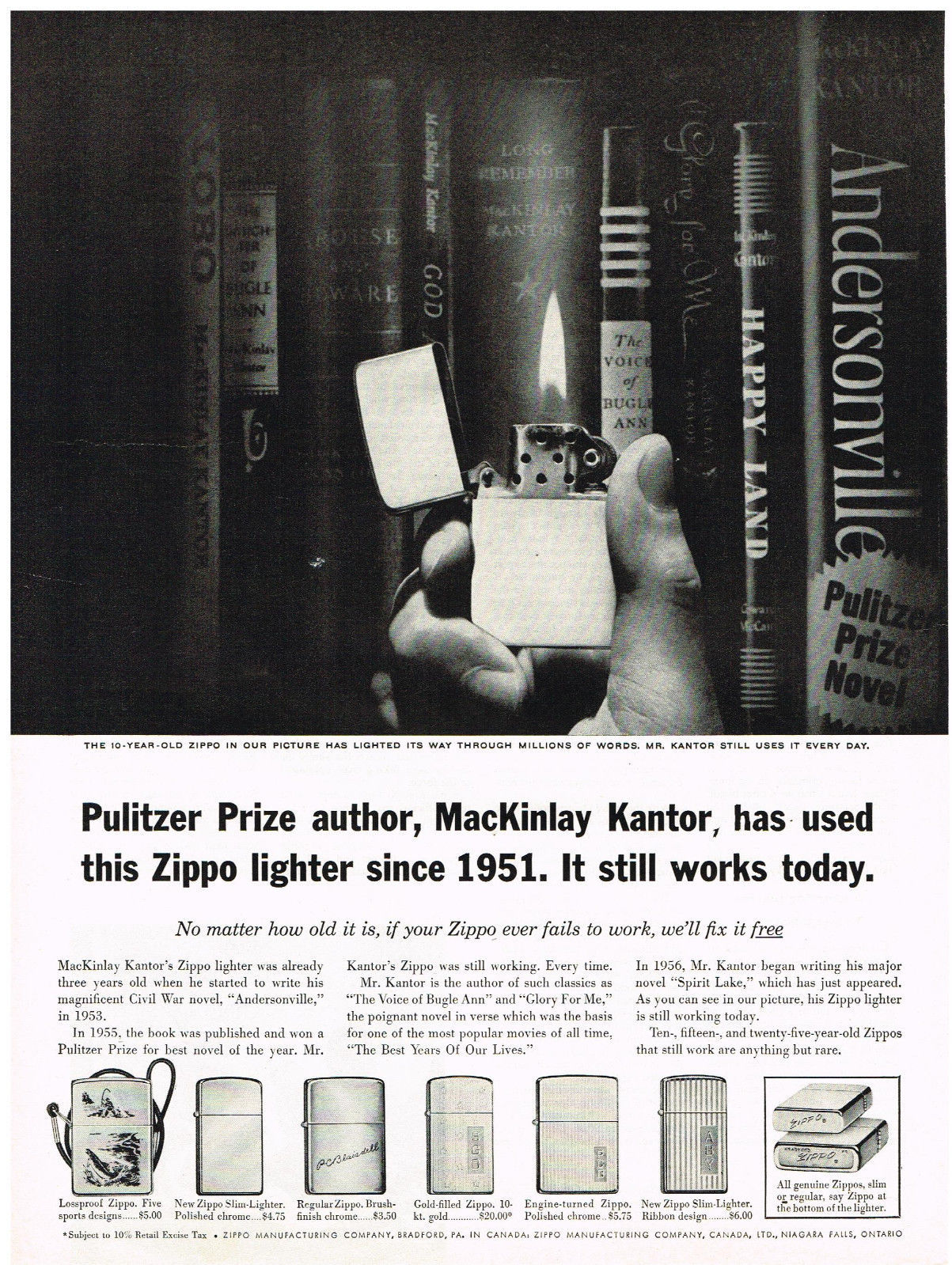 Vintage 1962 Magazine Ad Zippo Lighter No Matter How Old It Is We Fix Free - $5.93