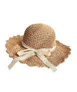 Gentle Meow Women's Beach Vacation Lace Bowknot Straw Hat Summer Collaps... - $21.07