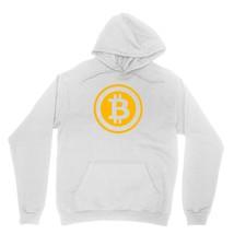 Bitcoin Logo Shirt Blockchain Virtual Cryptocurrency  Unisex White Hoodie Sweats - $24.95+