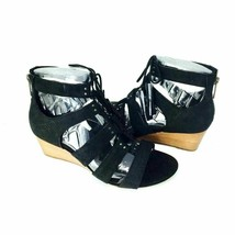 UGG Womens Yasmin Snake Gladiator Sandal Black Leather Lace Up Shoe with Zipper - $37.23