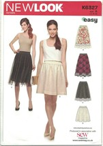 New Look Pattern K6327 S0716 Easy Gathered Waist Skirt & Overskirt Size 8-20 UC - $8.81