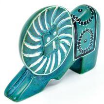 Crafts Caravan Hand Carved Soapstone Turquoise Elephant Figurine Made in Kenya image 5