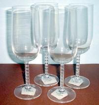 Kate Spade Plum Island Set of 4 Iced Beverage Crystal Glasses New - $98.90