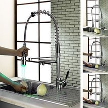Chrome Finish Kitchen Faucet with Color Changing LED Light - $247.45