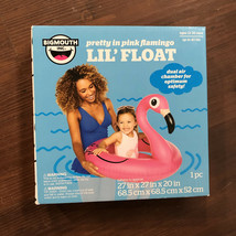 BigMouth Pretty In pink Flamingo Pool Float Toddlers Inflatable 12-36 Mo... - $14.95