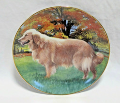 """Danbury Mint Golden Retriever Dog Autumn Portrait Collector Plate - 8"""" - $17.99"""