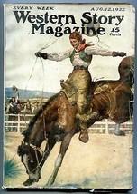 Western Story Magazine Pulp August 12 1922- Phantom Hounds - $90.79