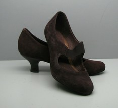 Clarks Artisan Brown Suede Leather PUMPS Woman's SHOES 5.5 M - $15.83