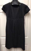 Liz Lange Size Large Women's LITTLE BLACK PLEATED MATERNITY DRESS Ponte - $49.49