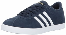 adidas Women's Courtset Sneakers 5.5 Collegiate Navy/White/Metallic Gold - $44.67