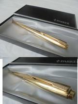 PARKER 50 PENNA A SFERA LAMINATA ORO + SCATOLA Lam Gold Ball Pen +BOX OR... - $36.97