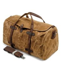 MUCHUAN Vintage Pure Cotton Canvas Leather Travel Duffle Bags Large Capa... - $54.00