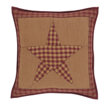 "Ninepatch Star Patchwork Pillow 16"" - Vhc Brands"