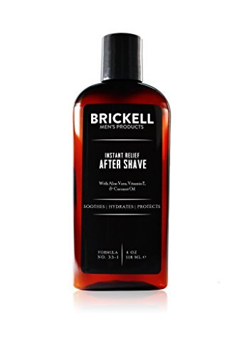 Brickell Men's Instant Relief Aftershave for Men, Natural and Organic Soothing A