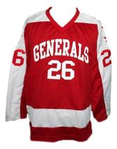 Custom Name # Greensboro Generals Retro Hockey Jersey New Red Any Size image 4