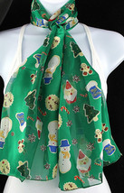 Christmas Cookies Women's Scarf Fashion Holiday Baker Gift Green Scarves - $15.79